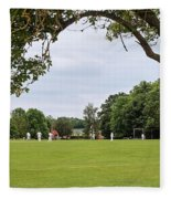 Lazy Sunday Afternoon - Cricket On The Village Green Fleece Blanket
