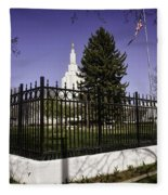 Lds Idaho Falls Temple Fleece Blanket