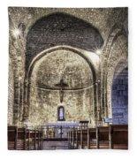 Le Castellet Medieval Church Fleece Blanket