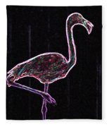 Le Flamant Electrique Fleece Blanket
