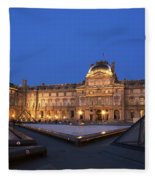 Le Louvre Palace Buildings And Pyramids Fleece Blanket