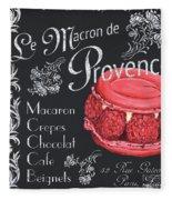 Le Macron De Provence Fleece Blanket