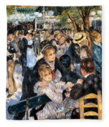 Le Moulin De La Galette Fleece Blanket