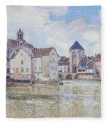 Le Pont De Moret Fleece Blanket