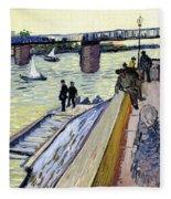 Le Pont De Trinquetaille Fleece Blanket