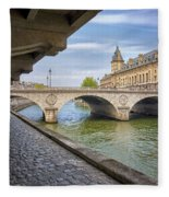Le Pont Napoleon Paris Fleece Blanket