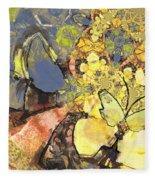Le Printemps Des Papillons Fleece Blanket