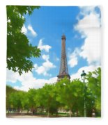 Le Tour Eiffel Fleece Blanket