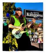 Lead Guitarist Jimmy Dence - The Fabulous Kingpins Fleece Blanket