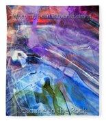Lead Me To The Rock-psalm 61vs2 Fleece Blanket
