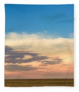 Leading Edge Storm Front And Moon Panorama Fleece Blanket