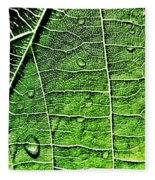 Leaf Abstract - Macro Photography Fleece Blanket