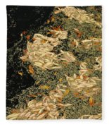 Leaf Abstract Ode To Klimt Fleece Blanket
