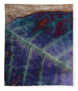 Leaf Abstract Fleece Blanket