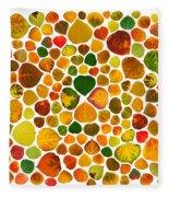 Leaf Collage 2 Fleece Blanket