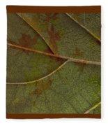 Leaf Design I Fleece Blanket