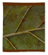 Leaf Design II Fleece Blanket