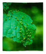 Leaf Gall Fleece Blanket