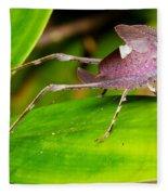 Leaf Katydid Fleece Blanket