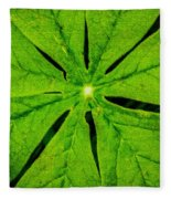 Leaf Macro Fleece Blanket