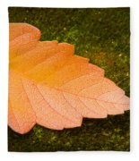 Leaf On Moss Fleece Blanket