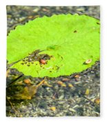 Leaf On The Water Fleece Blanket