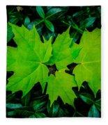 Leaf Overlay Fleece Blanket