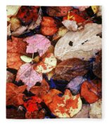 Leaf Patterns 2 Fleece Blanket