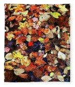 Leaf Patterns 3 Fleece Blanket