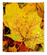 Leaf Portait 1 Fleece Blanket