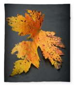Leaf Portrait Fleece Blanket