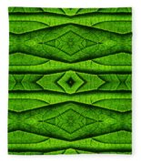 Leaf Structure Abstract Fleece Blanket