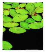 Leafy Swamp Fleece Blanket