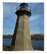 Leaning Lighthouse Fleece Blanket