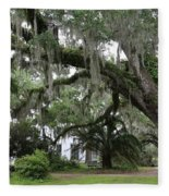 Leaning Live Oak Fleece Blanket