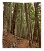 Leaning Over The Trail Fleece Blanket