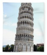 Leaning Tower Of Pisa Fleece Blanket