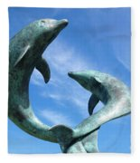 Leaping Dolphins In The Isles Of Scilly Fleece Blanket