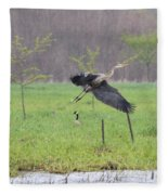 Leaping Flight Fleece Blanket