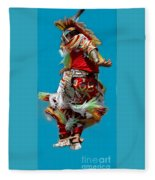 Leaping Into The Air Fleece Blanket