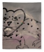 Leaping Leopard Fleece Blanket