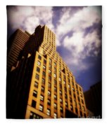 Leaps Tall Buildings With A Single Bound - Skyscraper Fleece Blanket