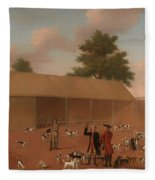 Learning About The Hounds Fleece Blanket