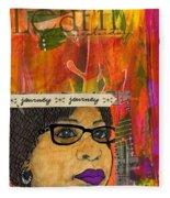 Learning From Yesterday - Journal Art Fleece Blanket