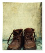Leather Children Boots Fleece Blanket