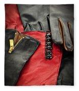 Leather Gloves Fleece Blanket