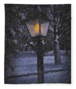 Leave The Light On Fleece Blanket