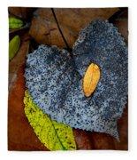 Leaves At Oak Openings Fleece Blanket