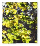 Leaves Blowing Fleece Blanket