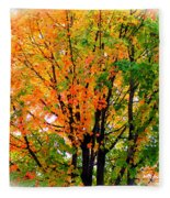 Leaves Changing Colors Fleece Blanket